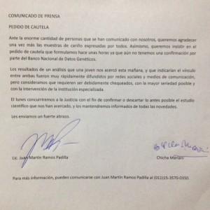 Comunicado Clara Anahí
